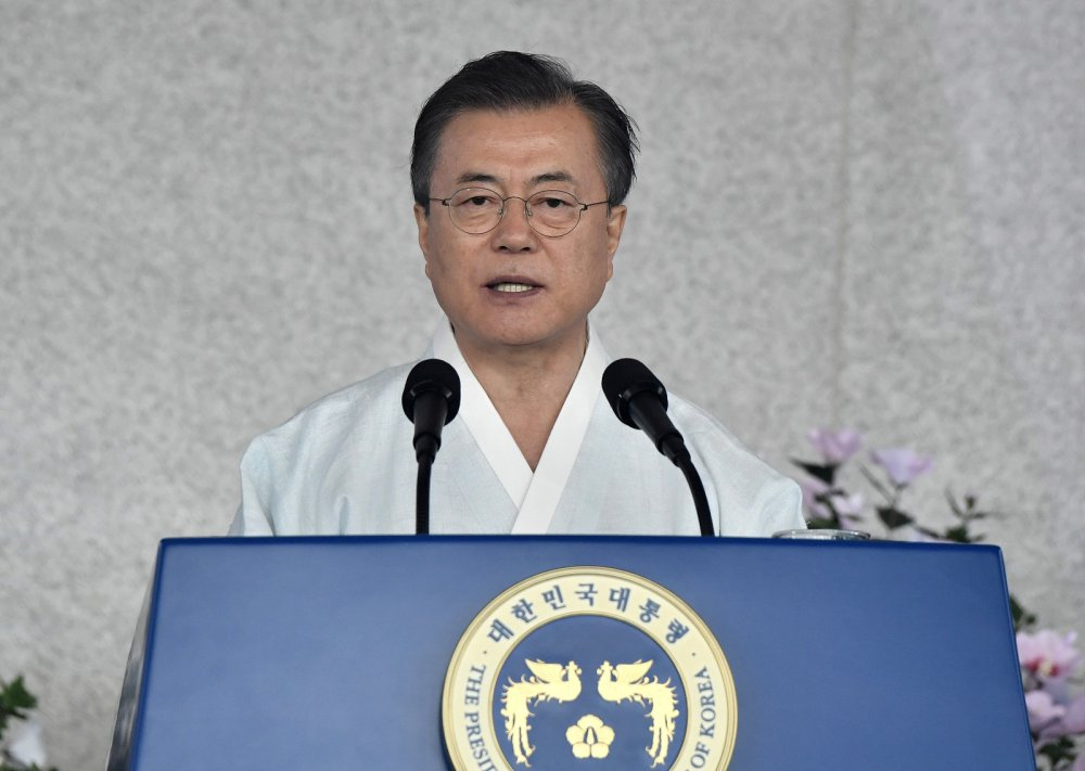 S. Korea celebrates freedom from Japanese rule, urges dialogue with Tokyo