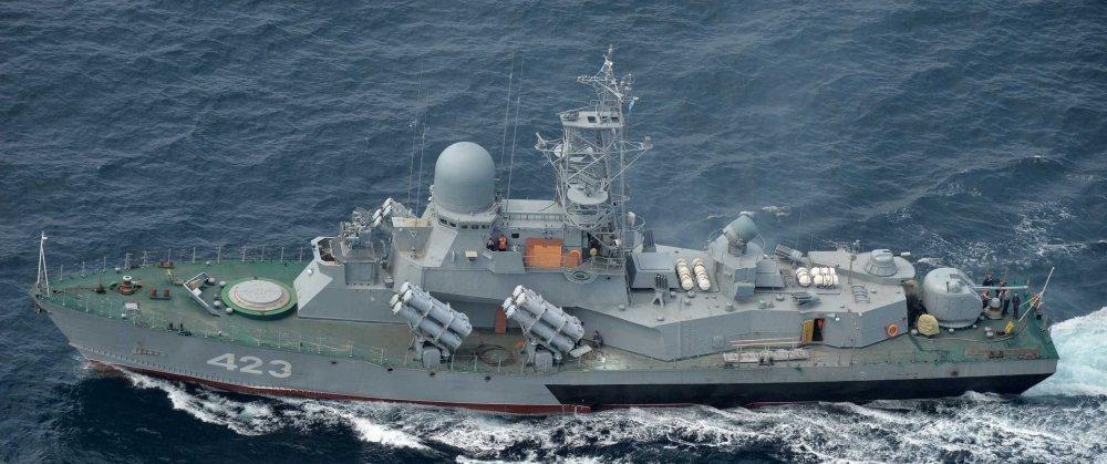 Corveta russa Smerch depois das atualizações