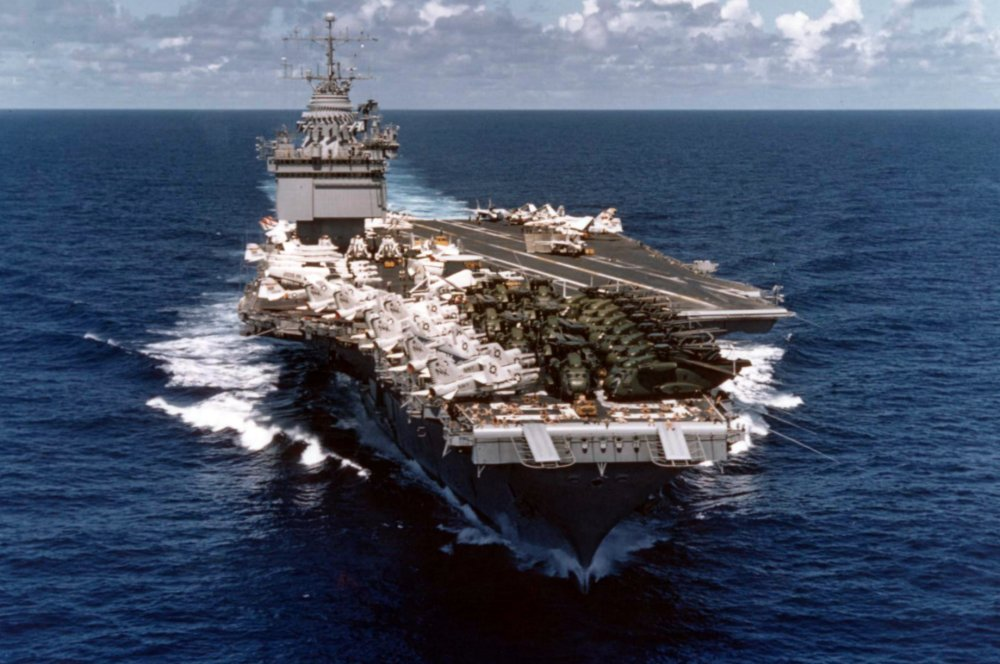 This U S  Navy Aircraft Carrier Was Almost Sunk in 1985