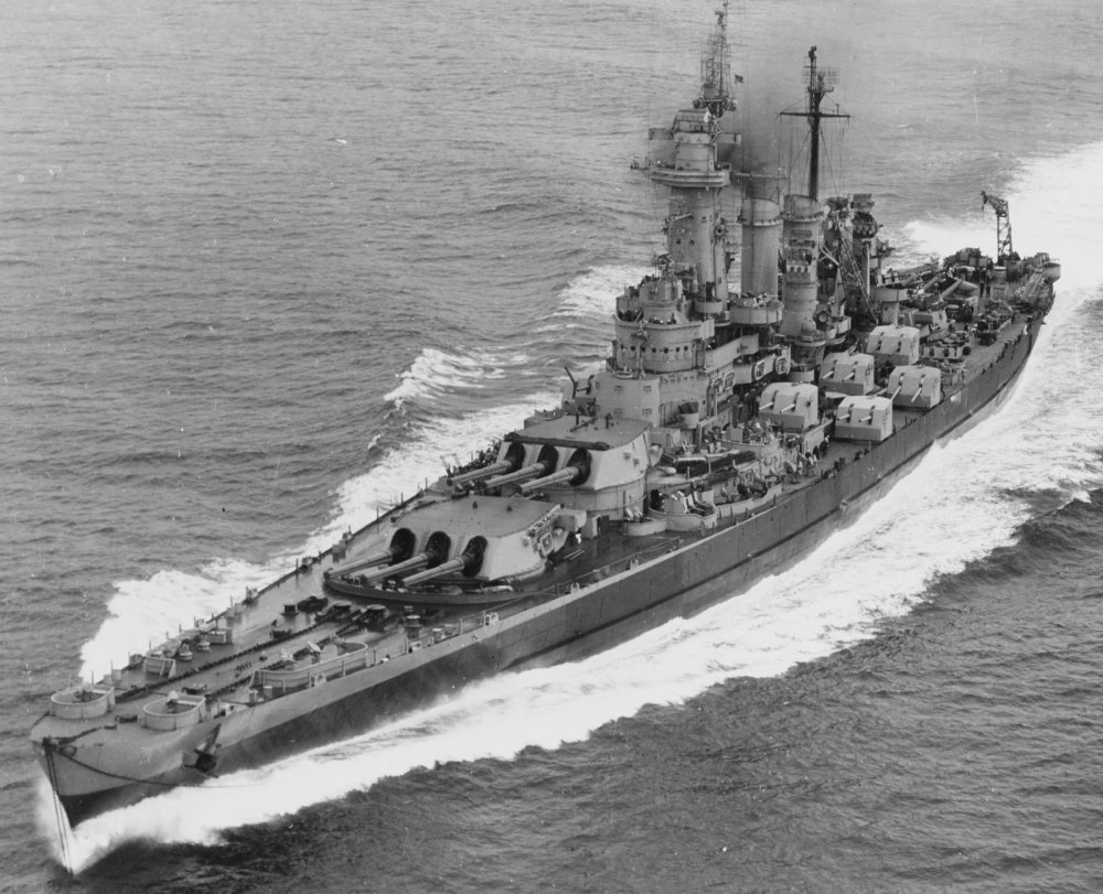 This Navy Battleship Fired Its Guns at Point Blank Range on