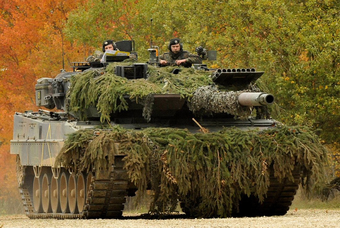 German Leopard: a tank, popular in many countries of the world