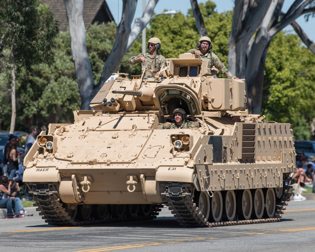 The first modernized warrior 2 infantry fighting vehicles transferred to the British Army 96