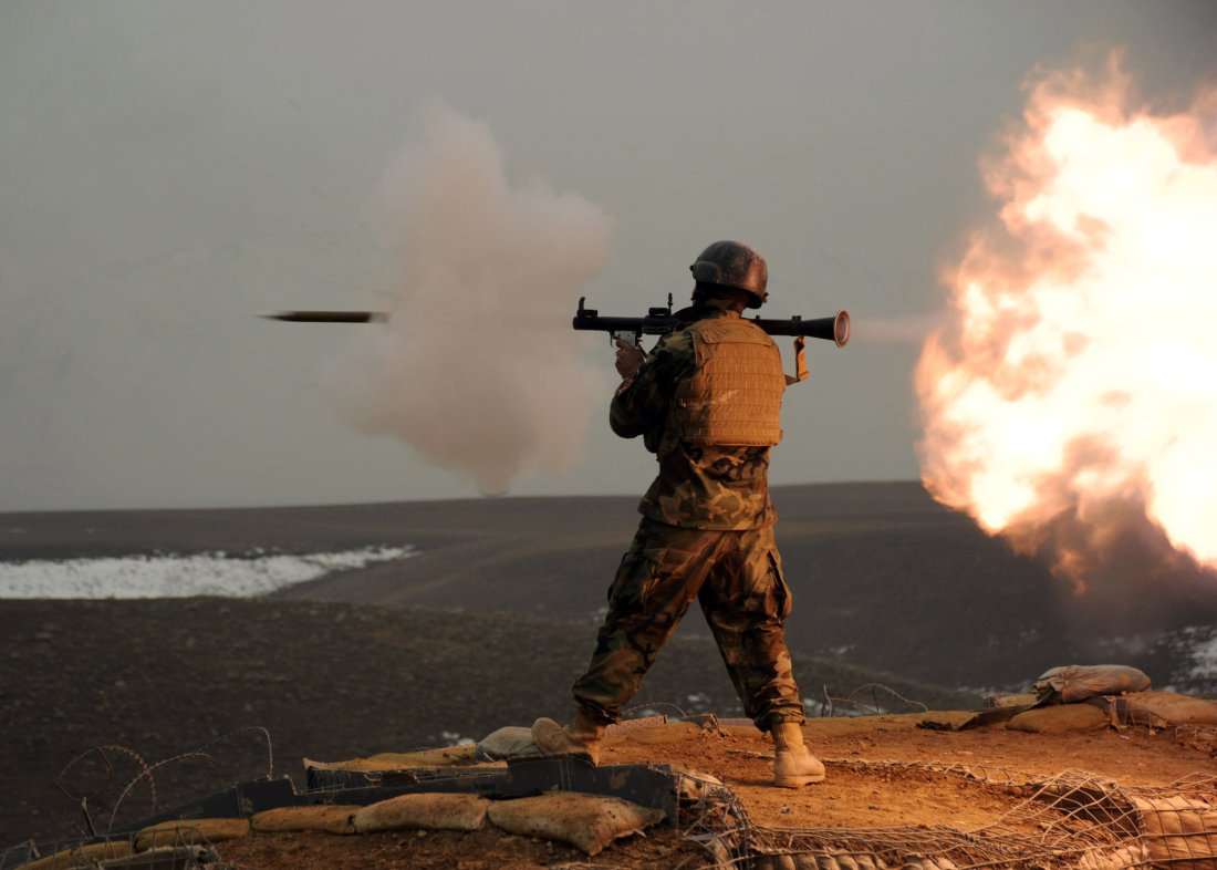 The RPG-29 grenade launcher and its tandem projectile
