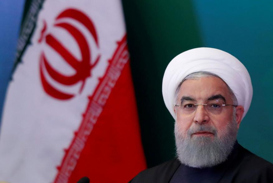 FILE PHOTO: Iranian President Hassan Rouhani attends a meeting with Muslim leaders and scholars in Hyderabad, India, February 15, 2018. REUTERS/Danish Siddiqui/File Photo