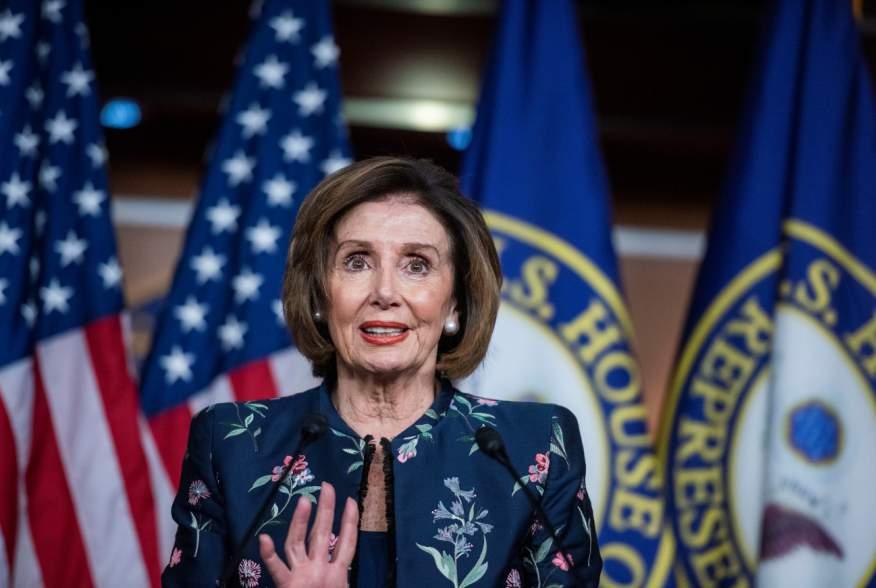 U.S. House of Representatives Speaker Nancy Pelosi (D-CA) holds her weekly news conference at the U.S Capitol during U.S. President Donald Trump's Senate impeachment trial in Washington, U.S., January 30, 2020. REUTERS/Amanda Voisard