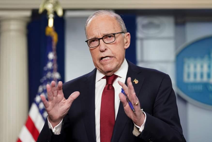 White House economic adviser Larry Kudlow speaks about coronavirus at the White House in Washington, U.S., February 28, 2020. REUTERS/Kevin Lamarque