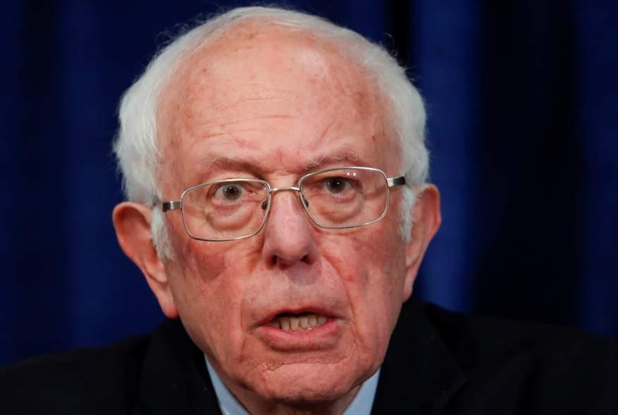 U.S. Democratic presidential candidate Senator Bernie Sanders addresses a news conference in Burlington, Vermont, U.S. March 11, 2020. REUTERS/Lucas Jackson