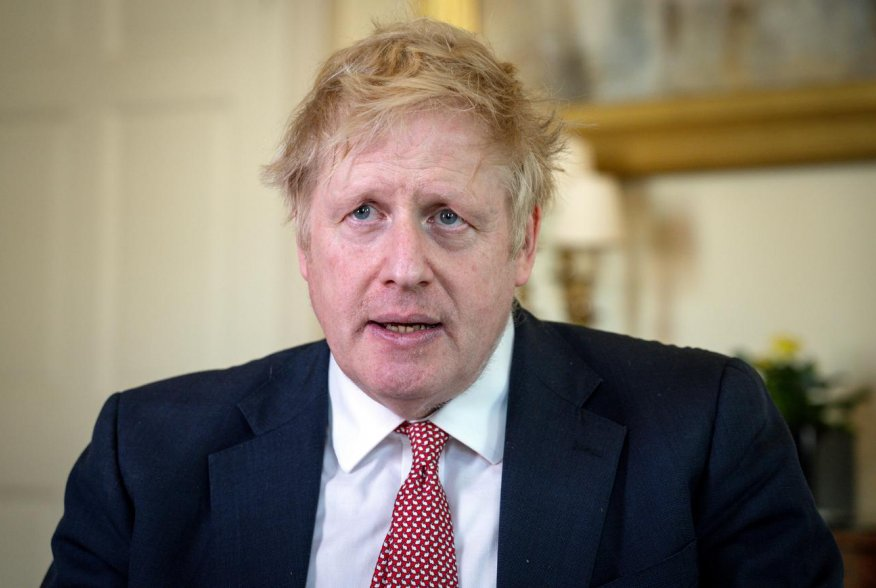 Prime Minister Boris Johnson thanks the NHS in a video message on Easter Sunday, in 10 Downing Street, London, Britain, April 12, 2020. Pippa Fowles/No 10 Downing Street/Handout via REUTERS