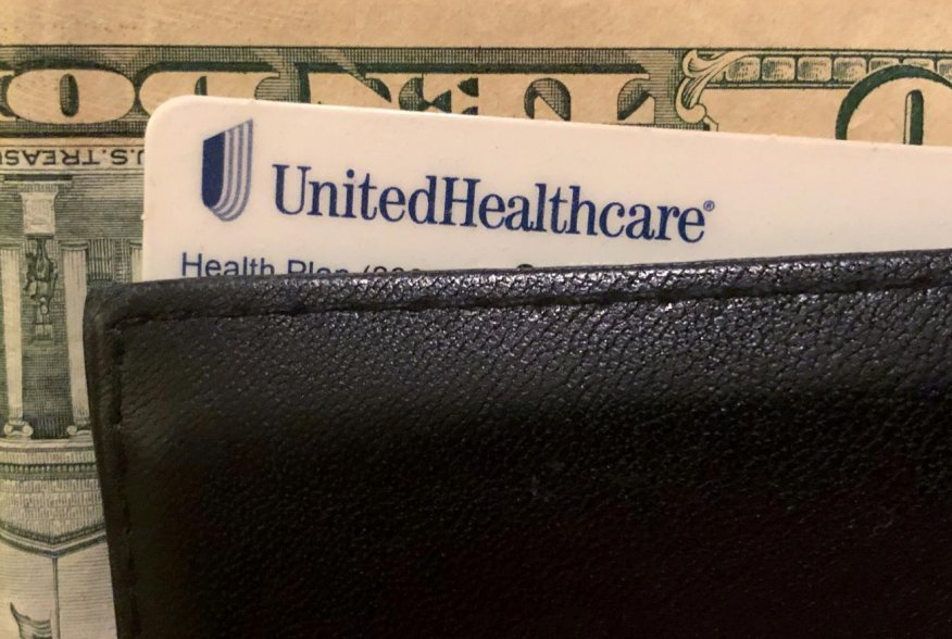A UnitedHealth Group health insurance card is seen in a wallet in this picture illustration October 14, 2019. REUTERS/Lucy Nicholson/Illustration