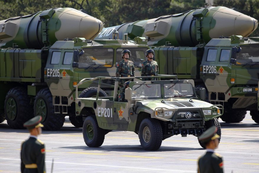Military vehicles carrying DF-21D ballistic missiles roll to Tiananmen Square during a military parade to mark the 70th anniversary of the end of World War Two, in Beijing, China, September 3, 2015. REUTERS/Damir Sagolj