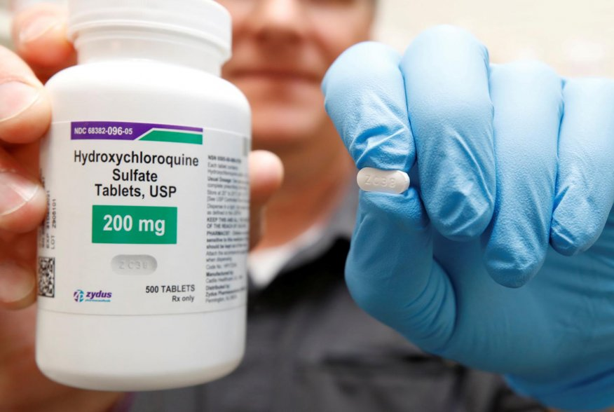The drug hydroxychloroquine, pushed by U.S. President Donald Trump and others in recent months as a possible treatment to people infected with the coronavirus disease (COVID-19), is displayed by a pharmacist at the Rock Canyon Pharmacy in Provo, Utah, U.S