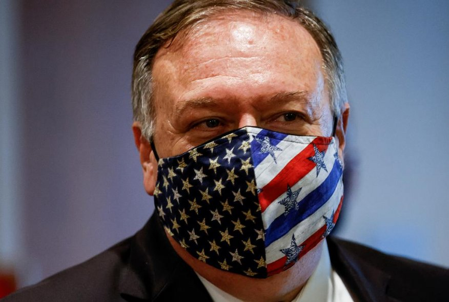 U.S. Secretary of State Mike Pompeo departs a meeting with members of the U.N. Security Council about Iran's alleged non-compliance with a nuclear deal at the United Nations in New York, U.S., August 20, 2020. REUTERS/Mike Segar/Pool