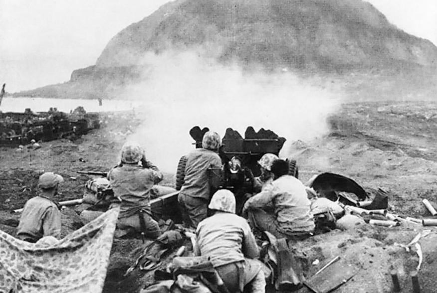 https://en.wikipedia.org/wiki/Battle_of_Iwo_Jima#/media/File:37mm_Gun_fires_against_cave_positions_at_Iwo_Jima.jpg