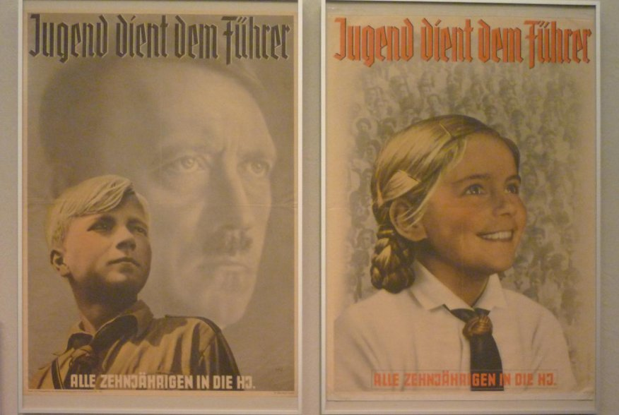 Hitler youth propaganda posters at the Deutsche Historishes Museum. Flickr/Will Manley.