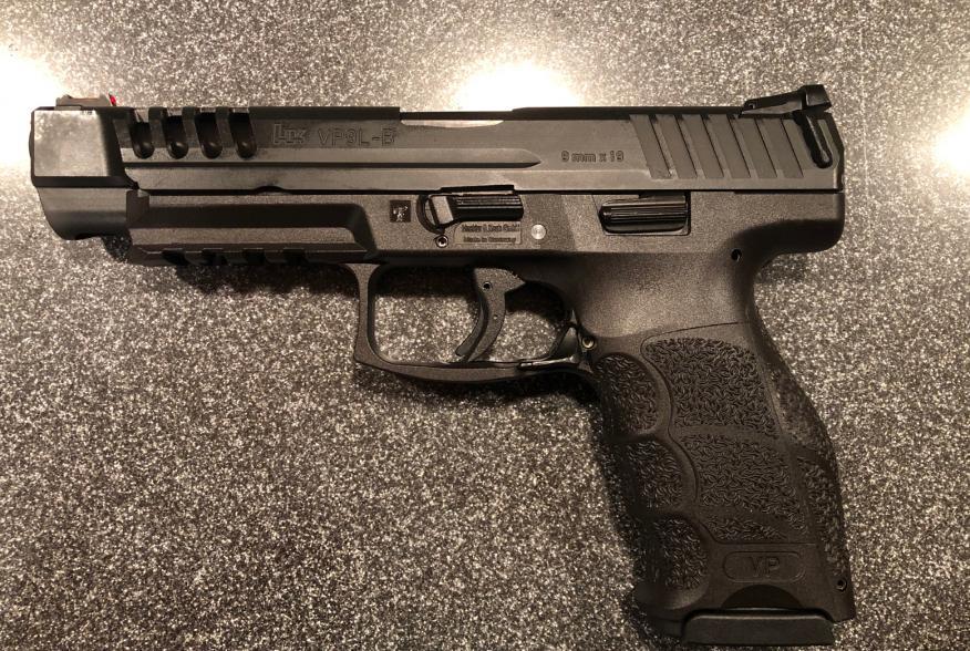 """Long slide"" version of the Heckler & Koch VP9, a polymer-framed semi-automatic striker-fired handgun. 3 September 2019"