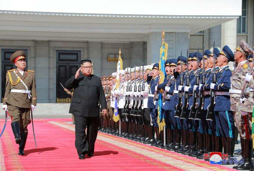 North Korean leader Kim Jong Un attends celebrations marking the 70th anniversary of North Korea's foundation in Pyongyang, North Korea, in this undated photo released September 10, 2018 by North Korea's Korean Central News Agency (KCNA). KCNA via REUTERS