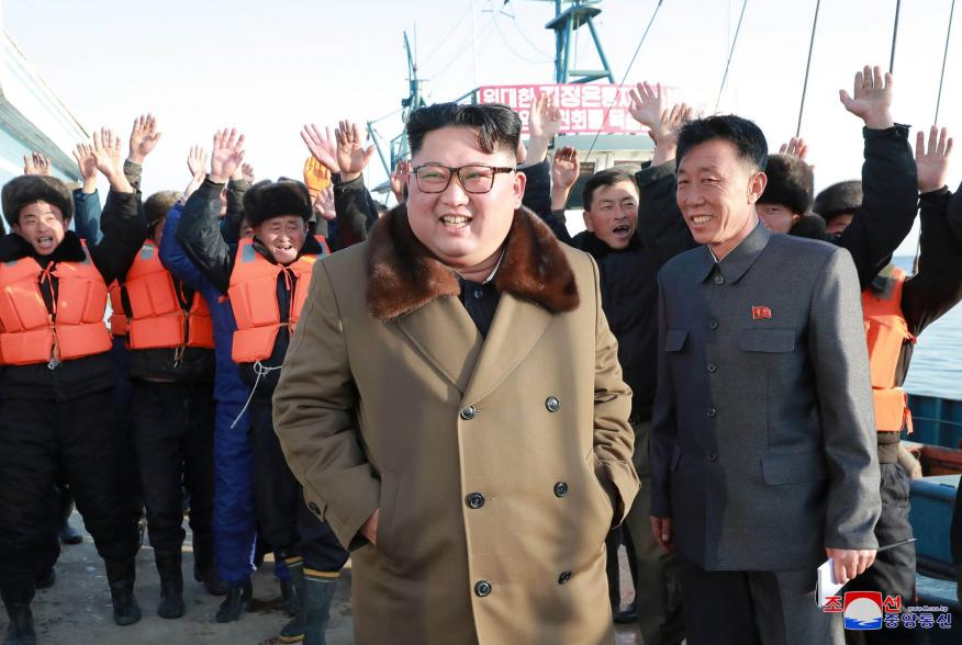 North Korean leader Kim Jong Un visits fisheries in the Donghae area, North Korea, in this picture released by the Korean Central News Agency on December 1, 2018. KCNA via REUTERS ATTENTION EDITORS - THIS IMAGE WAS PROVIDED BY A THIRD PARTY. REUTERS IS UN