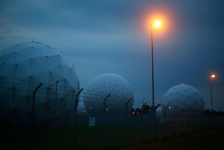 A general view of the large former monitoring base of the U.S. intelligence organization National Security Agency (NSA) during break of dawn in Bad Aibling south of Munich, July 11, 2013. Chancellor Angela Merkel has defended Germany's cooperation with U.