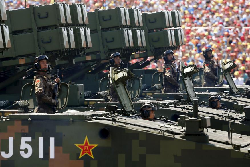 Anti-tank missiles are displayed during the military parade marking the 70th anniversary of the end of World War Two, in Beijing, China, September 3, 2015. REUTERS/Damir Sagolj