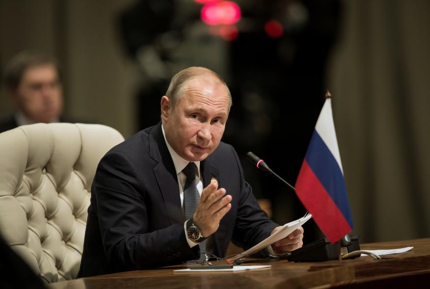 Russia's President Vladimir Putin speaks during the BRICS Summit in Johannesburg, South Africa, July 26, 2018. Gulshan Khan/Pool via REUTERS