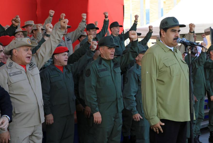 Venezuela's President Nicolas Maduro attends a military parade with the National Bolivarian Militia in Caracas, Venezuela December 17, 2018. Miraflores Palace/Handout via REUTERS ATTENTION EDITORS - THIS PICTURE WAS PROVIDED BY A THIRD PARTY