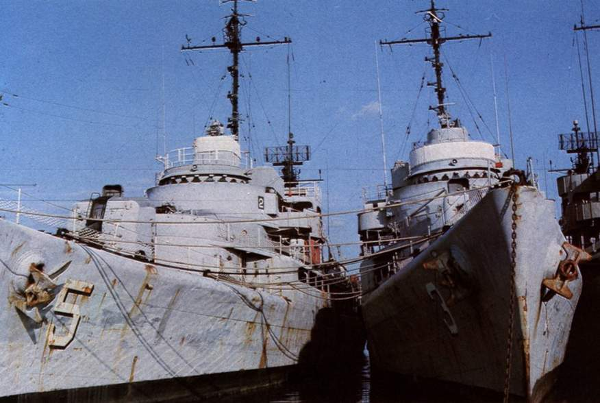 Two Casco-class cutters of the Navy of South Vietnam after their escape to Subic Bay, Philippines, circa in 1975.