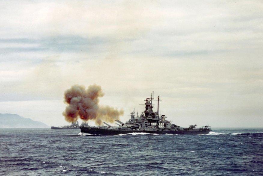 Bombardment of Kamaishi, Japan, 14 July 1945. U.S. Navy.