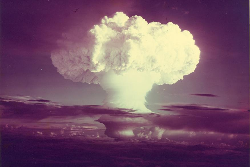 Ivy Mike (yield 10.4 mt) - an atmospheric nuclear test conducted by the U.S. at Enewetak Atoll on 1 November 1952. It was the world's first successful hydrogen bomb.
