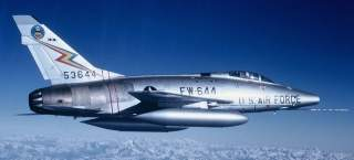 In 1962, the 20th Fighter Bomber Wing reequipped with North American F-100 Super Sabres like this one, much better suited for the nuclear