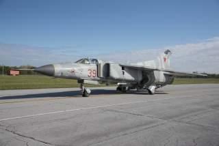 "DAYTON, Ohio -- The Mikoyan-Gurevich MiG-23MS ""Flogger-E"". (U.S. Air Force photo by Ken LaRock)"