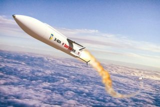 An artist's sketch of an Air Force X-60A launch. U.S. Air Force.