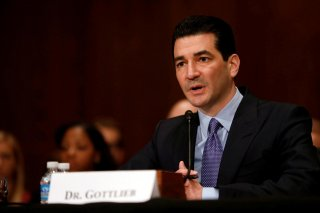 Dr. Scott Gottlieb testifies before a Senate Health Education Labor and Pension Committee confirmation hearing on his nomination to be commissioner of the Food and Drug Administration on Capitol Hill in Washington, D.C., U.S. April 5, 2017. REUTERS/Aaron