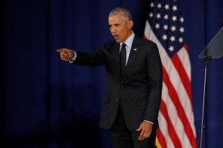 Former U.S. President Barack Obama leaves after speaking at the University of Illinois Urbana-Champaign in Urbana, Illinois, U.S., September 7, 2018. REUTERS/John Gress