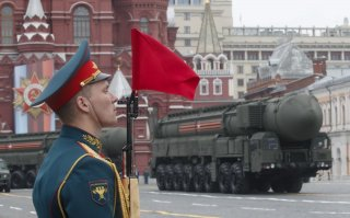 Russian servicemen drive Yars RS-24 intercontinental ballistic missile systems during the Victory Day parade, which marks the anniversary of the victory over Nazi Germany in World War Two, in Red Square in central Moscow, Russia May 9, 2019. REUTERS/Maxim