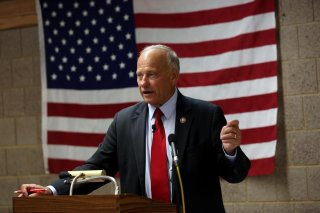 Republican U.S. Representative Steve King holds a Town Hall at the Grundy Center Community Center in Grundy Center, Iowa, U.S., August 17, 2019. REUTERS/Brenna Norman