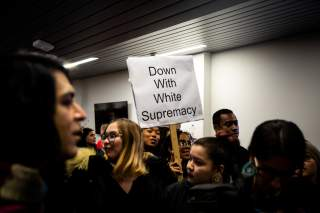 Students rally against white supremacy at Syracuse University in New York, U.S., November 20, 2019. REUTERS/Maranie Staab