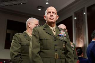 Gen. David Berger, commandant of the Marine Corps, arrives to testify to the Senate Armed Services Committee about military housing on Capitol Hill in Washington, U.S., December 3, 2019. REUTERS/Joshua Roberts
