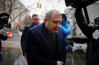 Ukrainian-American businessman Lev Parnas, an associate of President Donald Trump's personal lawyer Rudy Giuliani, arrives for a bail hearing at the Manhattan Federal Court in New York, U.S., December 17, 2019. REUTERS/Brendan McDermid