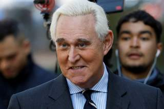 Roger Stone, former campaign adviser to U.S. President Donald Trump, arrives for his criminal trial on charges of lying to Congress, obstructing justice and witness tampering at U.S. District Court in Washington, U.S., November 6, 2019. REUTERS/Tom Brenne