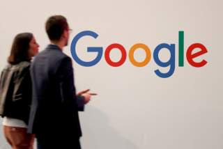 FILE PHOTO: File photo: The Google logo is seen at an event in Paris, France May 16, 2019. REUTERS/Charles Platiau/File Photo