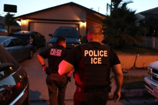 ICE Field Office Director, Enforcement and Removal Operations, David Marin and U.S. Immigration and Customs Enforcement's (ICE) Fugitive Operations team arrive to arrest a Mexican national at a home in Paramount, California, U.S., March 1, 2020. REUTERS/L