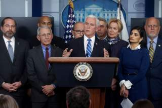 U.S. Vice President Mike Pence addresses reporters during his daily Coronavirus Task Force news briefing at the White House in Washington, U.S. March 10, 2020. REUTERS/Jonathan Ernst/