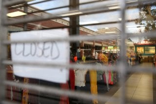 A clothing store in a shopping center is closed during the coronavirus disease (COVID-19) outbreak in Oxon Hill, Maryland, U.S. May 20, 2020. REUTERS/Jonathan Ernst