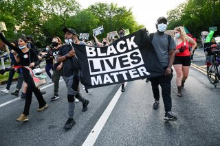 Demonstrators protest against racial inequality in the aftermath of the death in Minneapolis police custody of George Floyd, in New York City, New York, U.S. June 11, 2020. Picture taken June 11, 2020. REUTERS/Idris Solomon