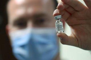 A pharmacist displays an ampoule of Dexamethasone at the Erasme Hospital amid the coronavirus disease (COVID-19) outbreak, in Brussels, Belgium, June 16, 2020. REUTERS/Yves Herman
