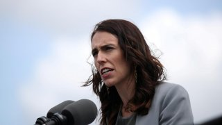 New Zealand Prime Minister Jacinda Ardern speaks during a joint press conference held with Australian Prime Minister Scott Morrison at Admiralty House in Sydney, Australia, February 28, 2020. REUTERS/Loren Elliott