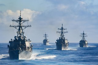 U.S. Navy Destroyers Gather.