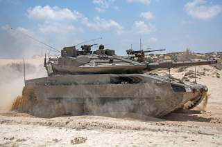 By IDF Spokesperson Unit, modification by User:MathKnight - File:Armored Corps Operate Near the Gaza Border (14743522533).jpg, CC BY 2.0, https://commons.wikimedia.org/w/index.php?curid=34361430