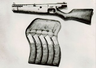 By British Armed Forces - C.I.S.A. TECHNICAL REPORT NO. J-28 ON 8M/M UNKNOWN TYPE JAPANESE MACHINE CARBINE., Public Domain, https://commons.wikimedia.org/w/index.php?curid=90466448
