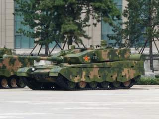 Type 99A tank at Theme Exhibition of the 90th Anniversary of Chinese People's Liberation Army.
